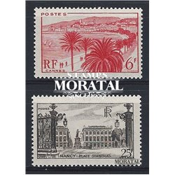 1947 France  Sc# 573/574  ** MNH Very Nice. Sites and Monuments (Scott)  Tourism