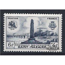 1947 France  Sc# B219  ** MNH Very Nice. Disembarkation Saint Nazaire (Scott)  War