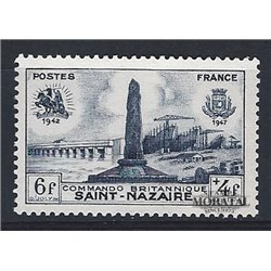 1947 France  Sc# B219  (*) MNG Nice. Disembarkation Saint Nazaire (Scott)  War