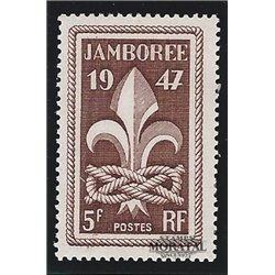 1947 France  Sc# 587  * MH Nice. 6th World Boy Scout (Scott)