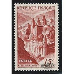 1947 Frankreich Mi# 823  (*) Ungummiert, Guter Zustand. Abtei Conques (Michel)  Kloster-Tourismus
