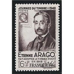 1948 Frankreich Mi# 812  (*) Ungummiert, Guter Zustand. Tag der Briefmarke (Michel)