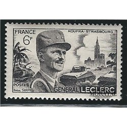 1948 France  Sc# 604  * MH Nice. Leclerc Hautecloque (Scott)