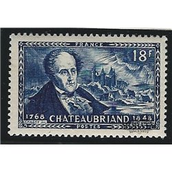 1948 France  Sc# 603  ** MNH Very Nice. Vicomte de Chateaubriand (Scott)  Personalities