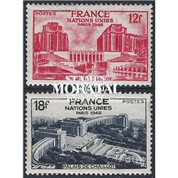 1948 France  Sc# 605/606  * MH Nice. Meeting of the UN General Assembly (Scott)