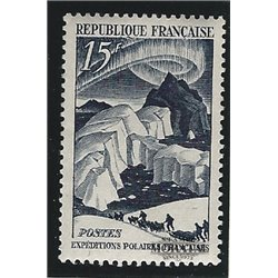 1949 France  Sc# 611  * MH Nice. French Polar Explorations (Scott)  Exposition