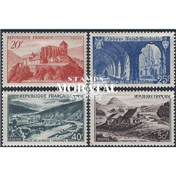 1949 France  Sc# 623, 630/632  ** MNH Very Nice. Sites and Monuments (Scott)  Tourism