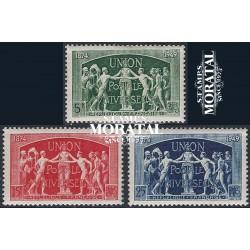 1949 France  Sc# 634/636  * MH Nice. U.P.U. (Scott)  Organizations