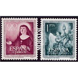 1952 Spanien 1008/1009  Eucharistische Religiös * Falz Guter Zustand  (Michel)