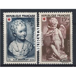 1950 Frankreich Mi# 894/895  * Falz Guter Zustand. Rotes Kreuz (Michel)  Rotes Kreuz
