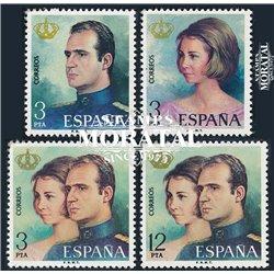 1975 Spanien 2195/2198  J.c. Herrschaft Könige ** Perfekter Zustand  (Michel)