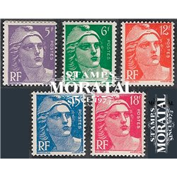 1951 France  Sc# 650/654  ** MNH Very Nice. Marianne (Scott)  Generic Series