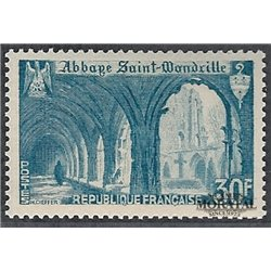 1951 France  Sc# 649  ** MNH Very Nice. Abbey St-Wandrille (Scott)  Monastery-Tourism