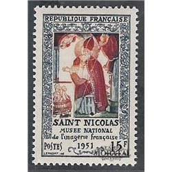 1951 France  Sc# 657  * MH Nice. St. Nicholas (Scott)