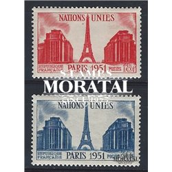 1951 France  Sc# 671/672  * MH Nice. Assembly U.N. (Scott)