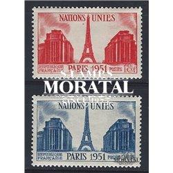 1951 Frankreich Mi# 929/930  * Falz Guter Zustand. Tagung der (UNO) (Michel)