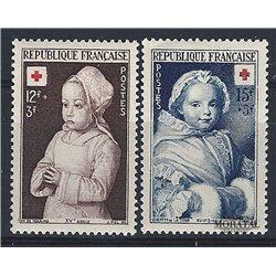 1951 Frankreich Mi# 933/934  * Falz Guter Zustand. Rotes Kreuz (Michel)  Rotes Kreuz