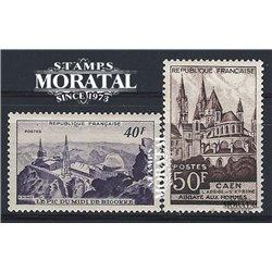 1951 Frankreich Mi# 935/936  ** Perfekter Zustand. Stätten und Denkmäler (Michel)  Tourismus