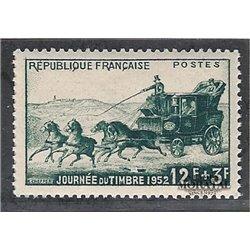1952 Frankreich Mi# 937  (*) Ungummiert, Guter Zustand. Tag der Briefmarke (Michel)
