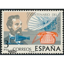 1976 Spanien 2204 Telefon  ** Perfekter Zustand  (Michel)