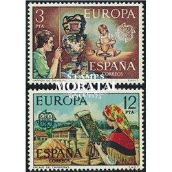 1976 Spanien 2209/2210  Europa Europa ** Perfekter Zustand  (Michel)