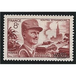 1953 France  Sc# 692  * MH Nice. Philippe de Hautecloque (Scott)  Personalities
