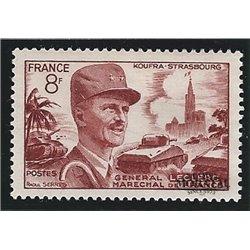 1953 France  Sc# 692  (*) MNG Nice. Philippe de Hautecloque (Scott)  Personalities