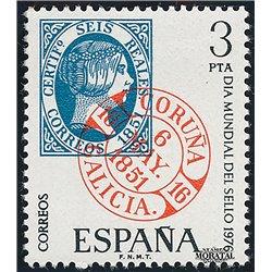 1976 Spanien 2211 Tag der Briefmarke Philatelie ** Perfekter Zustand  (Michel)