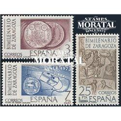 1976 Spanien 2212/2214  Millennium-Zaragoza Jubiläen ** Perfekter Zustand  (Michel)