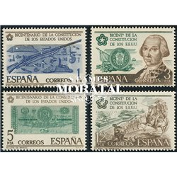 1976 Spanien 2215/2218  Millennium-USA Jubiläen ** Perfekter Zustand  (Michel)