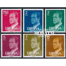 1976 Spanien 2237/2242  Grundlegende. Juan Carlos ich Serie Gene ** Perfekter Zustand  (Michel)