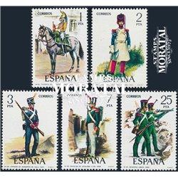 1976 Spanien 2243/2247  Uniformen VI Militär ** Perfekter Zustand  (Michel)