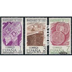 1976 Spanien 2249/2251  Millennium-Lugo Jubiläen ** Perfekter Zustand  (Michel)