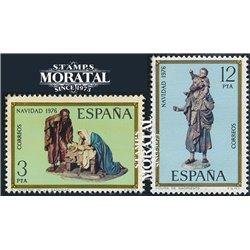 1976 Spanien 2261/2262  Weihnachten Weihnachten ** Perfekter Zustand  (Michel)