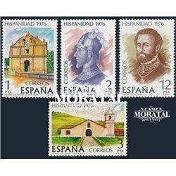 1976 Spanien 2264/2267  Hispanische Heritage V Amerika ** Perfekter Zustand  (Michel)
