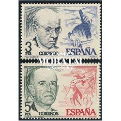 1976 Spanien 2272/2273  Casals/Fehler Persönlichkeiten ** Perfekter Zustand  (Michel)