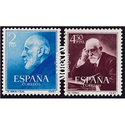 1952 Spanien 1012/1011  Cajal/Ferran Persönlichkeiten * Falz Guter Zustand  (Michel)