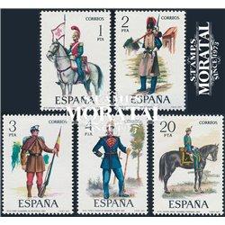 1977 Espagne 2027/2031  Uniformes VII Militaire **MNH TTB Très Beau  (Yvert&Tellier)