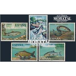 1977 Spanien 2289/2293  Fauna (Fish) VI Fauna ** Perfekter Zustand  (Michel)