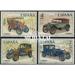 1977 Spain 2037/2040  Cars Cars **MNH Very Nice  (Scott)