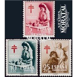 1953 Spanien Zwangszuschlagsmarken58/60 Pro-Tuberkulose Wohltätigkeit ** Perfekter Zustand  (Michel)