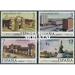 1977 Spain  Sc 2066/2069 Hispanic Heritage VI America **MNH Very Nice, Mint Hever Hinged?  (Scott)