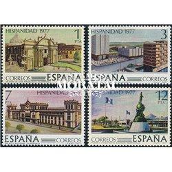1977 Espagne 2084/2087  Patrimoine hispanique VI Amérique **MNH TTB Très Beau  (Yvert&Tellier)