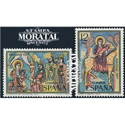 1977 Spain  Sc 2073/2074 Christmas Christmas **MNH Very Nice, Mint Hever Hinged?  (Scott)