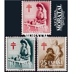 1953 Espagne 838/839, A-264  Pro tuberculose Bienfaisance *MH TB Beau  (Yvert&Tellier)