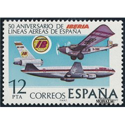1977 Spain  Sc 2075 Iberia Planes **MNH Very Nice, Mint Hever Hinged?  (Scott)
