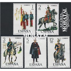 1978 Spain  Sc 2078/2082 Uniforms IX Uniforms **MNH Very Nice, Mint Hever Hinged?  (Scott)