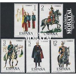 1978 Espagne 2096/2100  Uniforme IX Militaire **MNH TTB Très Beau  (Yvert&Tellier)