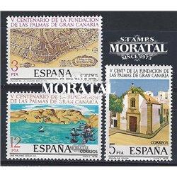 1978 Espagne 2123/2125  Las Palmas Anniversaires **MNH TTB Très Beau  (Yvert&Tellier)
