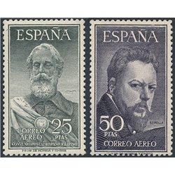 1953 Spanien 1019/1020  Legazpi / Sorolla Persönlichkeiten ** Perfekter Zustand  (Michel)